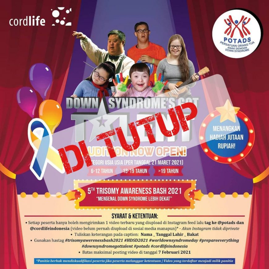 DOWN SYNDROME'S GOT TALENT DITUTUP