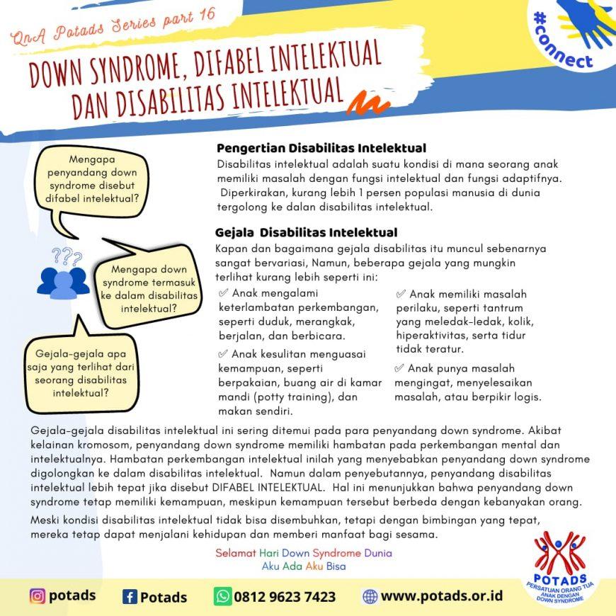 Down Syndrome, Difabel Intelektual dan Disabilitas Intelektual